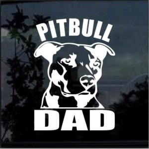 Pitbull Dad Window Decal Sticker