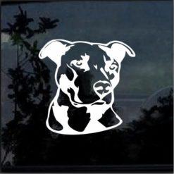 Pitbull Head Vinyl Window Decal Sticker