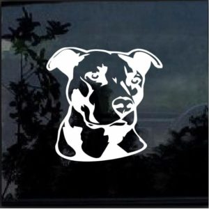Pitbull Head Vinyl Window Decal Sticker