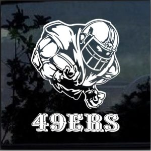 San Francisco 49ers Football player Window Decal Sticker