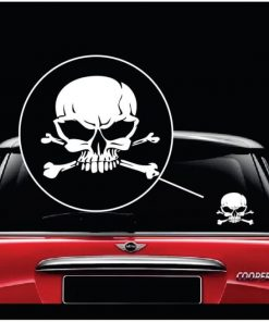 Skull and Cross Bones Vinyl Window Decal Sticker a2