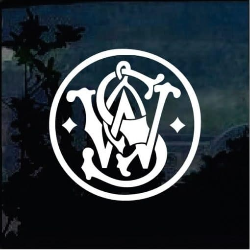 Smith And Wesson Window Decal Sticker 2