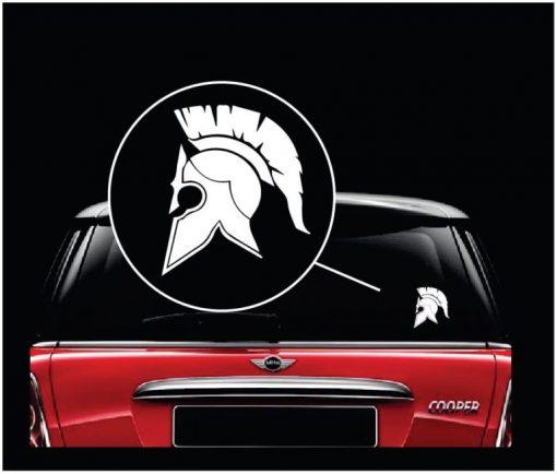 Spartan Helmet Molon Labe Window Decal Sticker