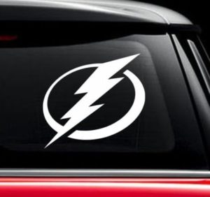 Tampa Bay Lighnting NHL Hockey Window Decal Sticker