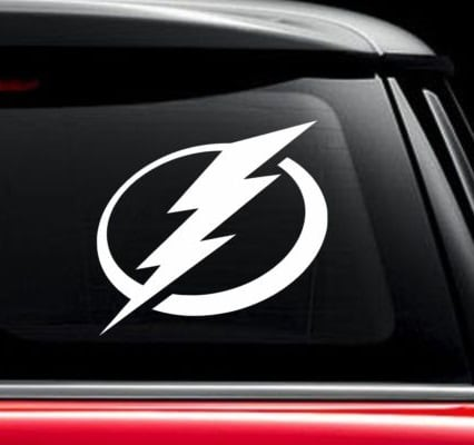 Tampa Bay Lighnting NHL Hockey Window Decal Sticker