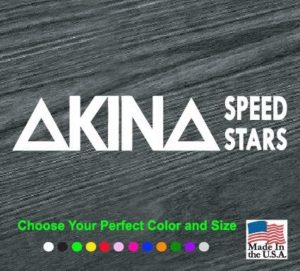 akina speed stars decal sticker
