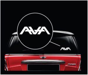 AWA Angels and Airways Vinyl Window Decal Sticker