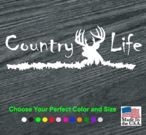 country life deer head decal sticker