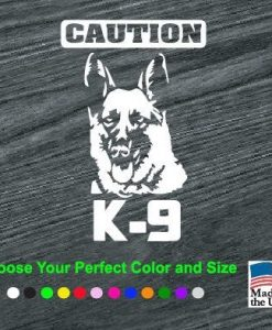 cuation k9 decal sticker