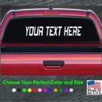 Custom Text Large Rear window Decal Sticker