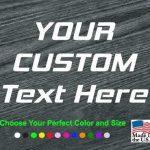 Make your own Custom Window Decal Sticker
