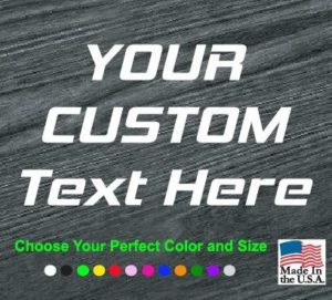 custom text window decal sticker