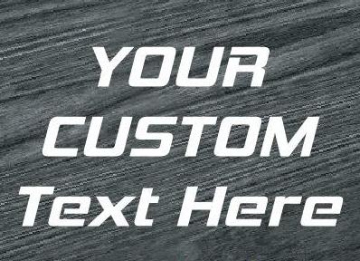 custom text window decal sticker