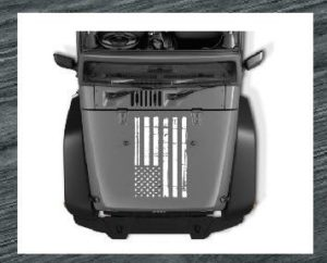 jeep hood weatherd flag decal sticker