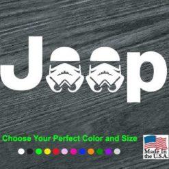 jeep storm trooper decal sticker