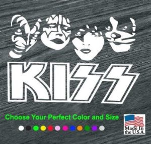 kiss band decal sticker