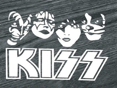 kiss band decal sticker
