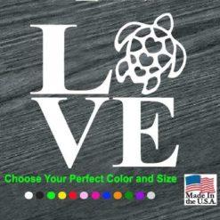 love turtles decal sticker