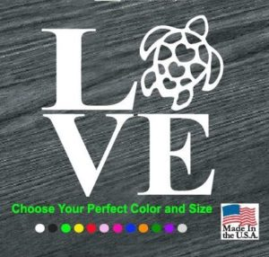 love turtles decal sticker