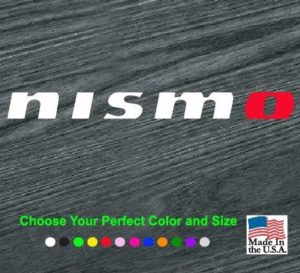 nismo jdm window decal sticker