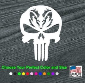 punisher dodge ram head decal sticker