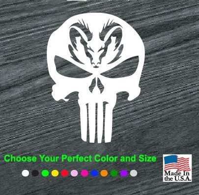 The Punisher Skull Vinyl Car Truck Wall Window Laptop Decal Sticker Sizes//colors
