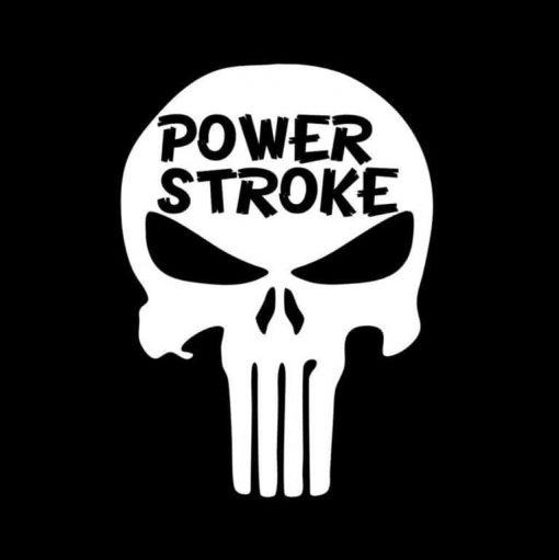 Punisher Power Stroke Diesel Vinyl Decal Stickers