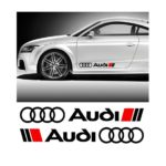 Audi Motor Sports Side Skirt Decal Sticker 28 x 3 Set of 2
