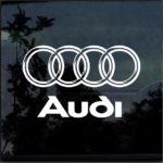 Audi Rings 3d look Window Decal Sticker