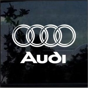 Audi Rings 3d look Car Window Decal Sticker