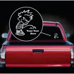Calvin Pee On Your Custom Text Decal Stickers
