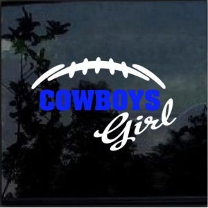 Dallas Cowboys Girl Decal Sticker