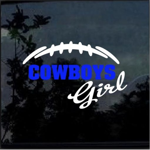 Dallas Cowboys Girl Decal Sticker