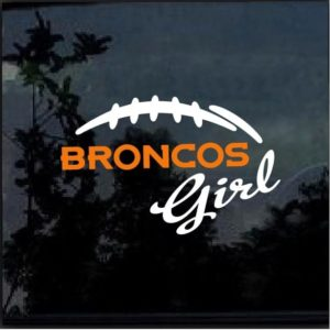 Denver Broncos Girl Decal Sticker