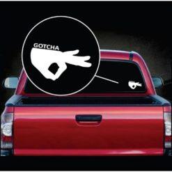 Circle Game Gotcha Car Window Decal Sticker
