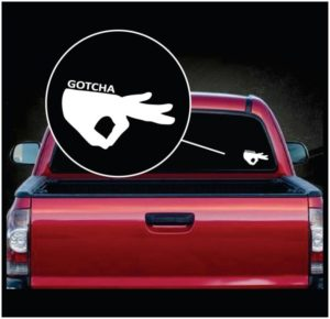 Circle Game Gotcha Car Window Decal Sticker