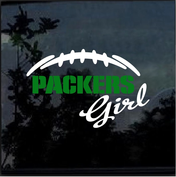 3aaec85c76b Green Bay Packers Girl Window Decal Sticker – Custom Sticker Shop
