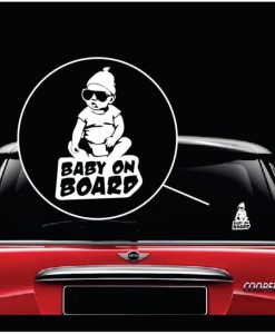 Hangover Carlos Baby on Board Decal sticker a2