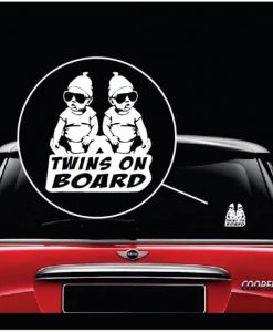 Hangover Carlos Baby on Board TWINS Decal sticker a2