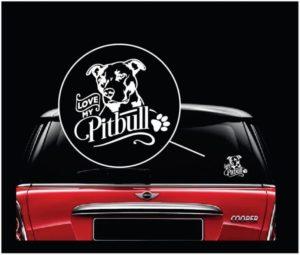 I love my Pitbull Car Window Decal Sticker a2
