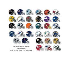 NFL Football Decal Sticker Helmet Design 2