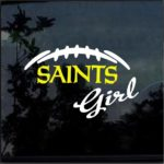 New Orleans Saints girl Window Decal Sticker