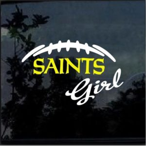 New Orleans Saints girl decal sticker