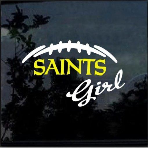 New Orleans Saints girl decal sticker