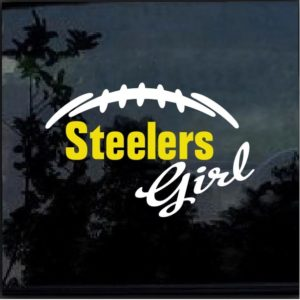 Pittsburgh Steelers Girl Decal Sticker a1