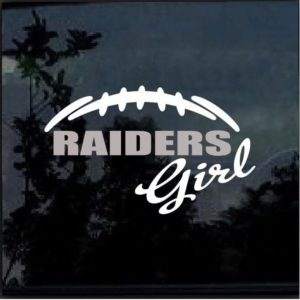 Raiders Girl Decal Sticker