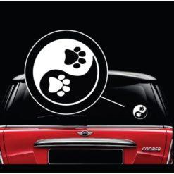 Yin Yang Paw Print Animal Love Decal Sticker