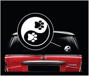 Yin Yang Paw Print Animal Love Decal Sticker
