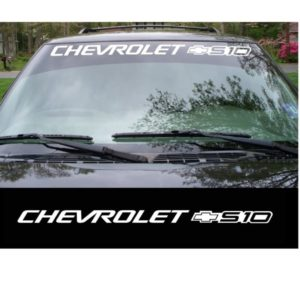 chevrolet s10 windshield decal sticker