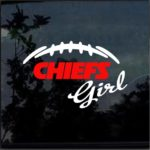 Kansas City Chiefs Girl Window Decal Sticker